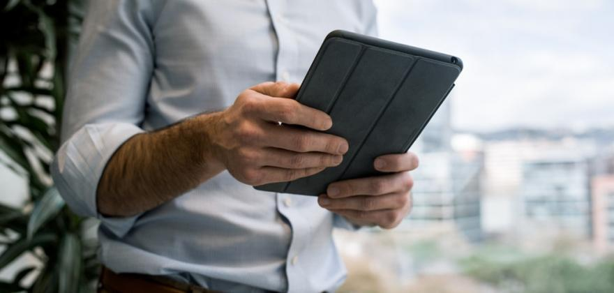An iPad at your fingertips